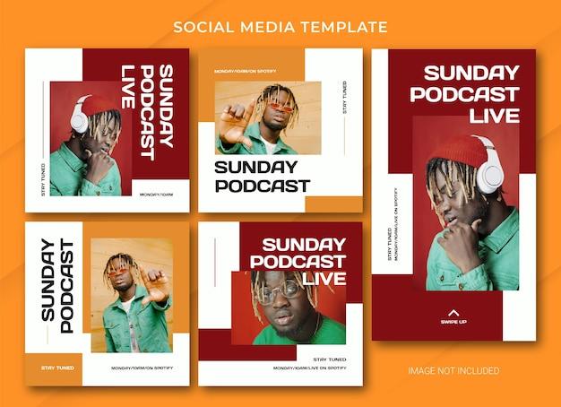 Podcast social media bundle-sjabloon