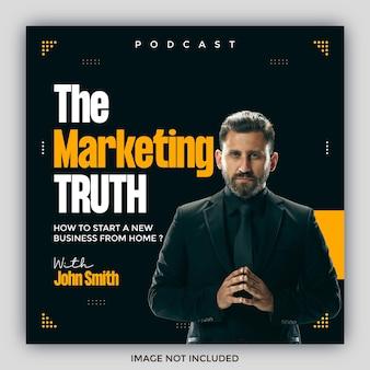 Podcast vierkante flyer social media postsjablonen