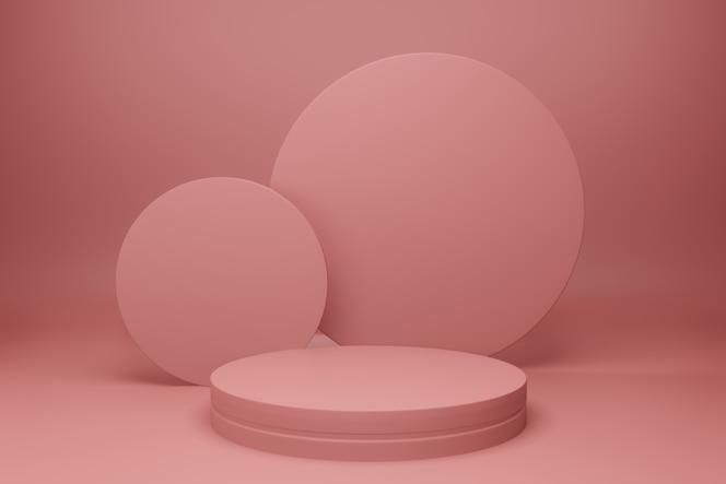 Podio en diseño minimalista