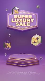 Podio de lujo de oro púrpura