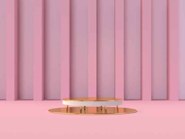 Podium productpresentatie in 3d-rendering