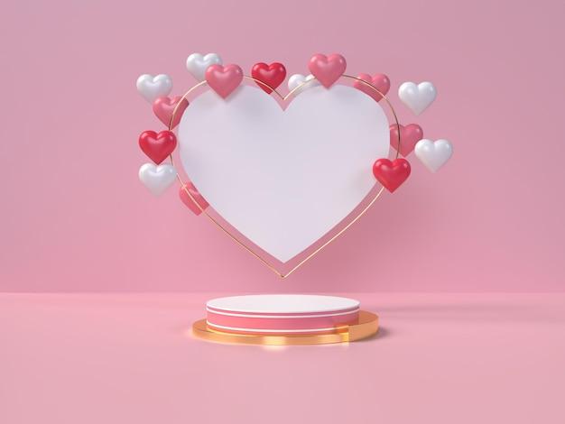 Podium voor productplaatsing voor valentijnsdag