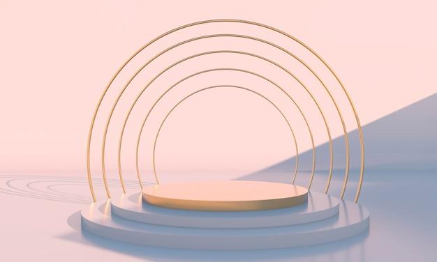Podiumontwerppresentatie in 3d-weergave