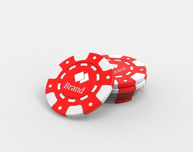 Poker chips mockup