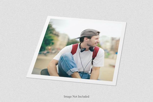 Polaroid fotolijst mockup ontwerp