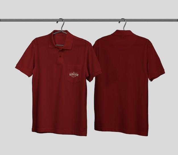 Polo shirt mockup ontwerp met zak
