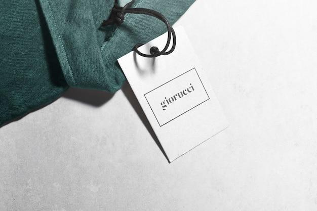 Poloshirt label tag mockup