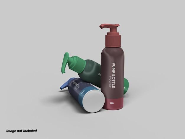 Pompfles voor vloeibare zeep of ontsmettingsmiddel mockup