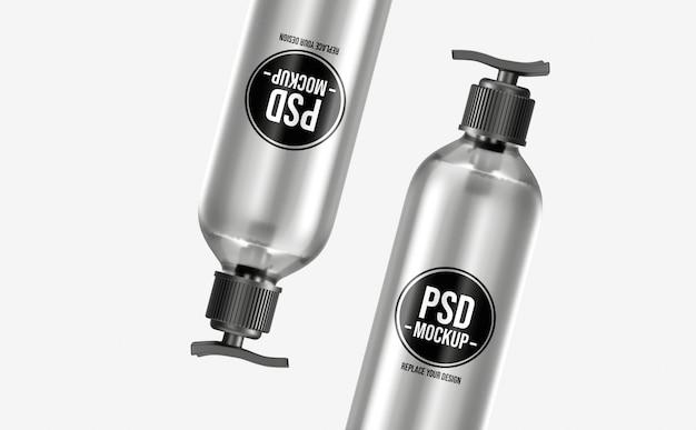 Pompgel fles mockup-ontwerp