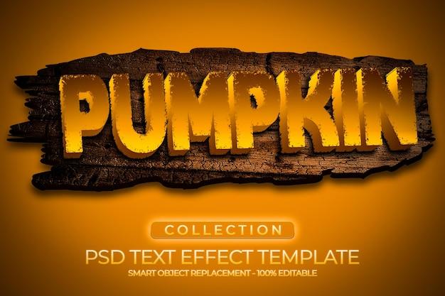 Pompoenverhaal teksteffect met houten textuur