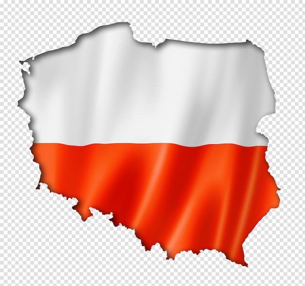 Poolse vlag kaart