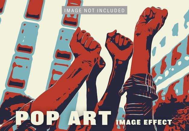 Pop-art afbeeldingseffect