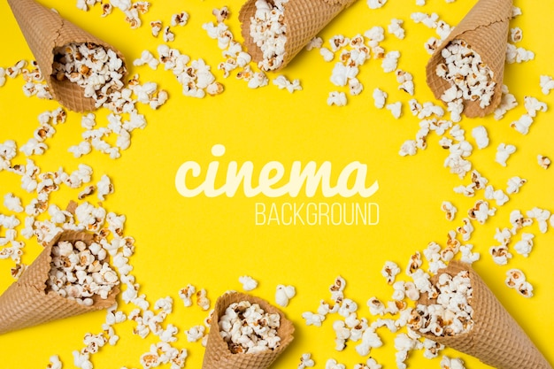 Popcorn voor bioscoopframe