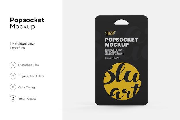 Popsocket bag mockup geïsoleerd
