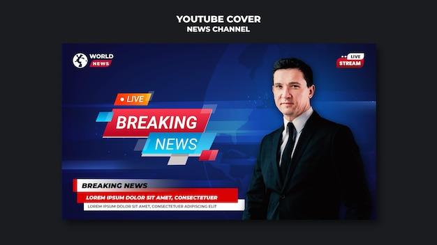 Portada del canal de noticias de youtube