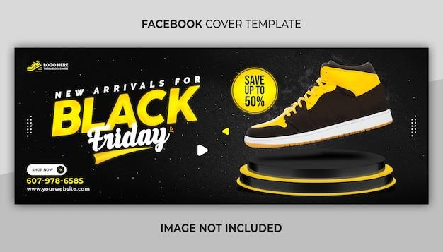 Portada de facebook y plantilla de banner web para la venta y black friday