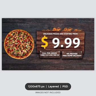 Portada de facebook de promoción de comida rápida
