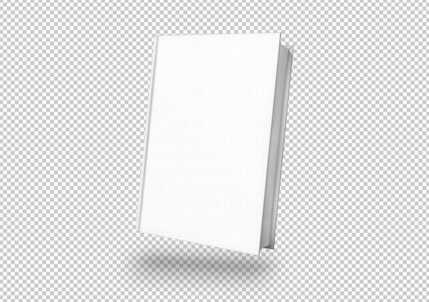 Portada de libro blanco aislado