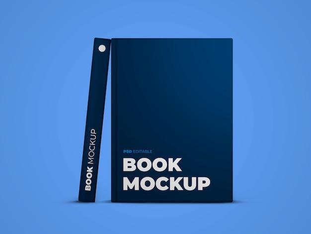 Portada de libro y maqueta de molde de libro