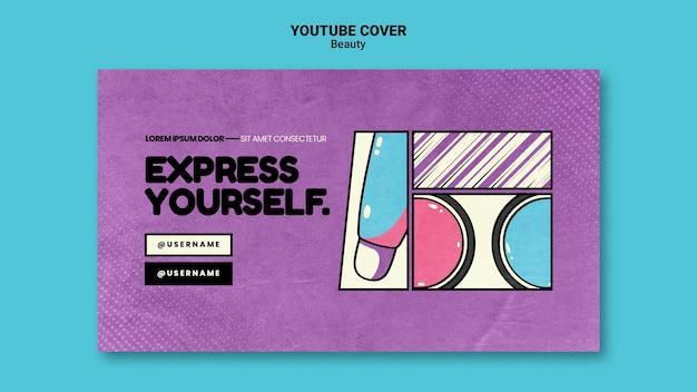 Portada de youtube de arte pop de belleza