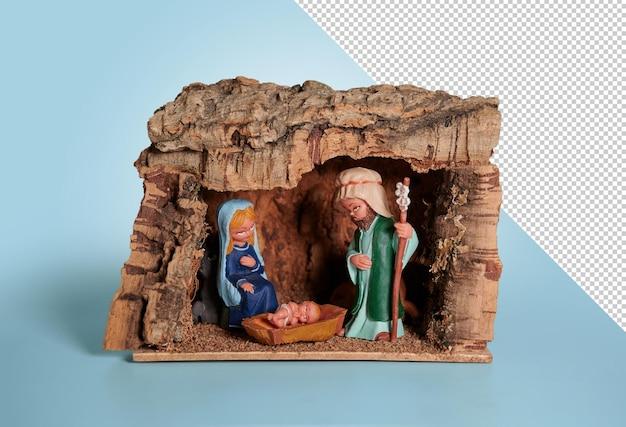 Portal de belén, pesebre navideño, maqueta