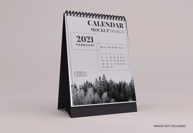 Portret bureaukalender mockup