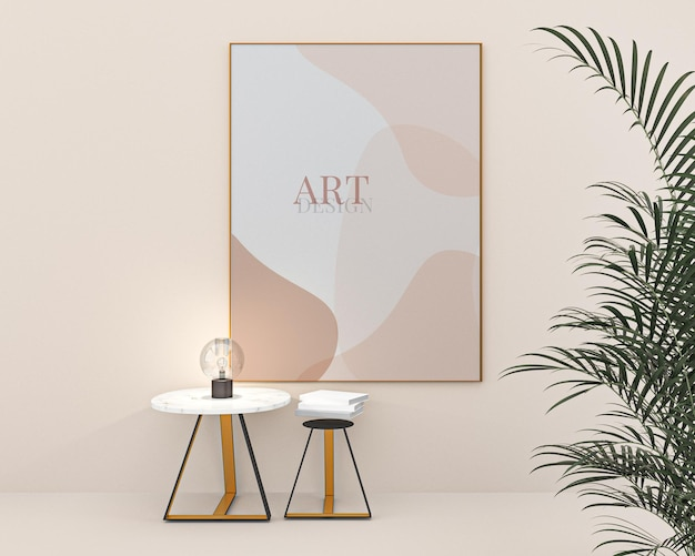 Portret fotolijsten mockup art design