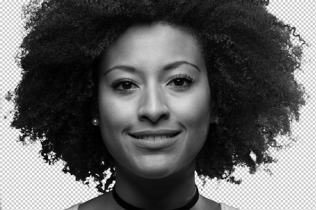 Portret van een jonge zwarte vrouw