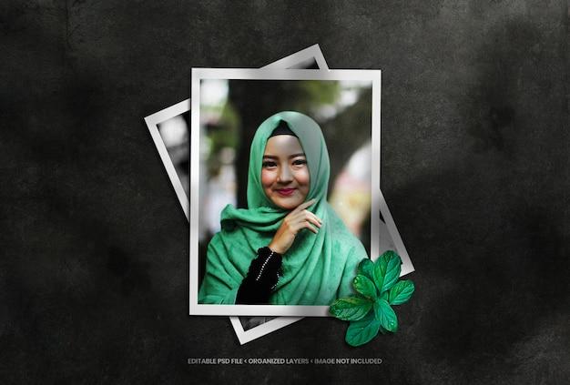 Portretfotokaderset met schaduwoverlay