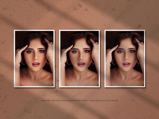 Portretpapier fotolijst mockup