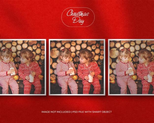 Portretpapier frame fotomodel voor kerstmis en vrolijke kerstdag