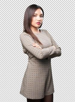 Posa asiatica della donna