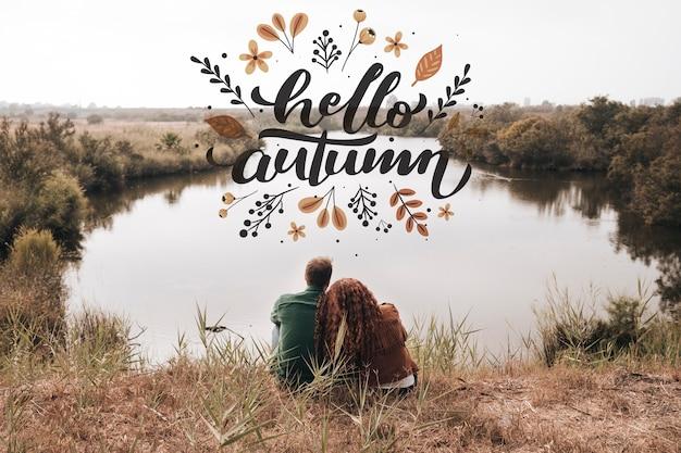 Posibilidad muy remota de la pareja que mira lejos