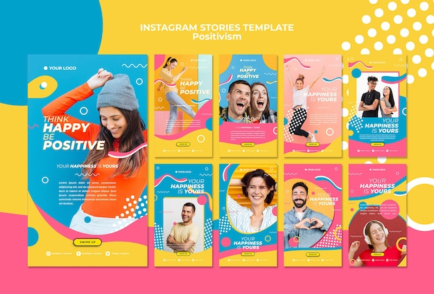 Positivism concept instagram stories