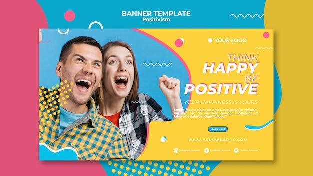 Positivisme concept banner sjabloonstijl