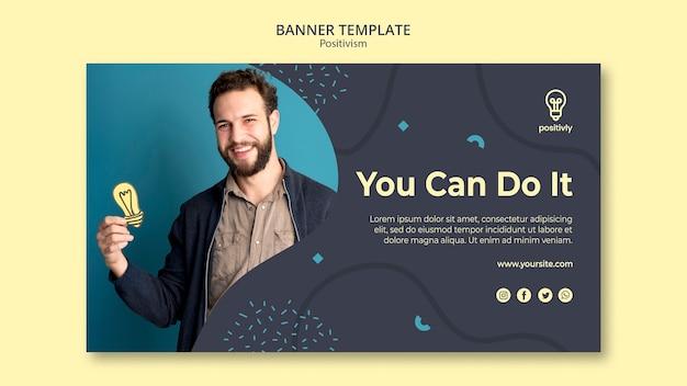 Positivisme concept banner stijl