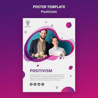 Positivisme concept poster sjabloon