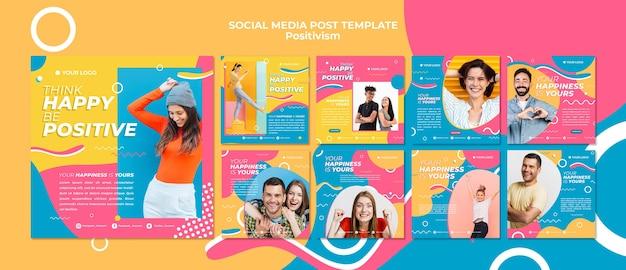 Positivisme concept social media post