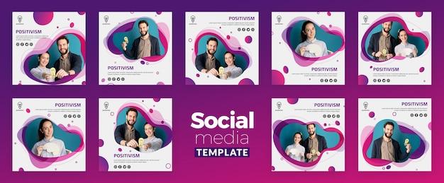 Positivisme concept sociale mediasjabloon