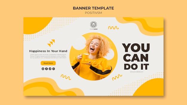 Positivisme sjabloon voor banner concept Gratis Psd