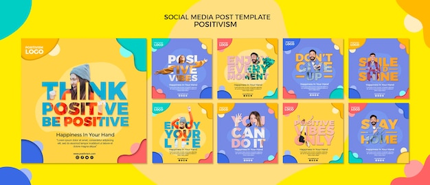 Positivismo concepto publicación en redes sociales