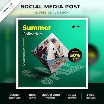 Post di forma 3d di media sociali