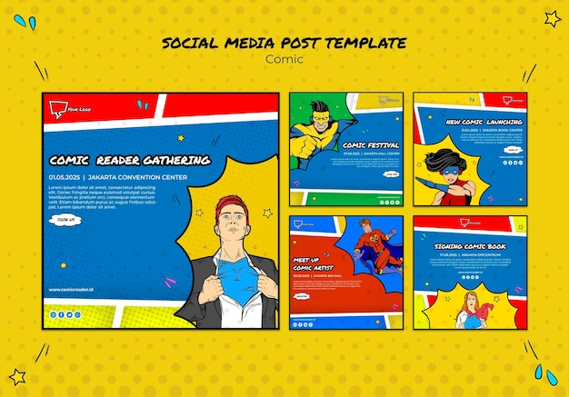 Post di fumetti sui social media