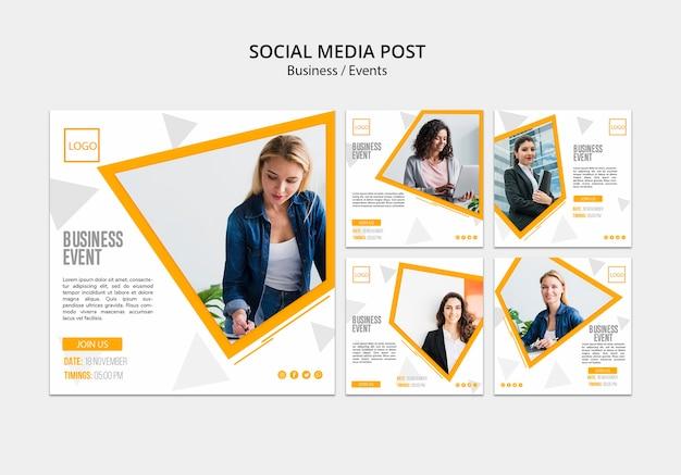 Post di lavoro online sui social media