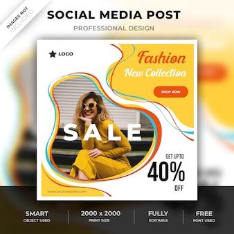 Post di moda sui social media