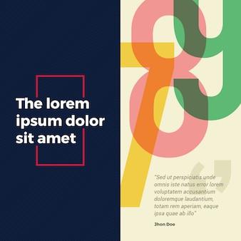 Post di social media banner quadrato elegante e colorato.