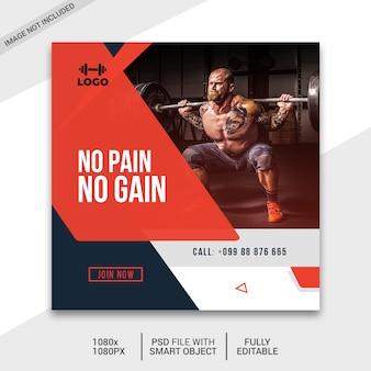 Post di social media fitness