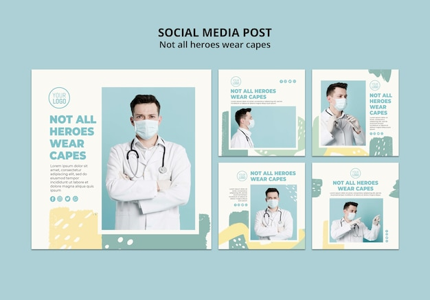 Post di social media professionale medico