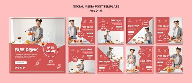 Post gratuito sui social media