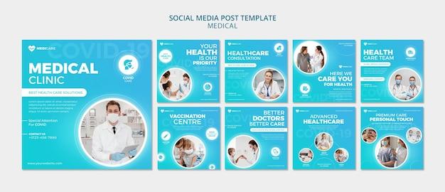 Post op sociale media in de medische gezondheidszorg Premium Psd